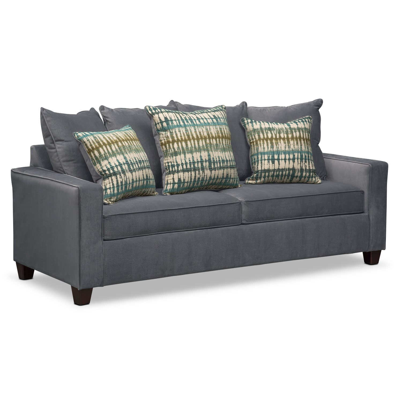 Bryden Queen Memory Foam Sleeper Sofa - Slate