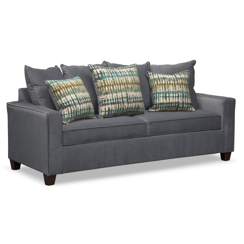 Memory Foam Sleeper Sofa: Bryden Queen Memory Foam Sleeper Sofa - Slate