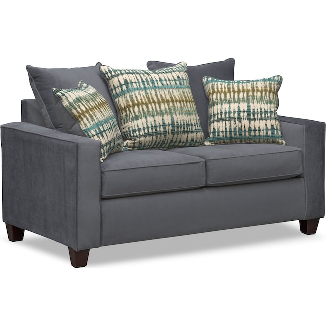 Living Room Furniture - Bryden Loveseat - Slate