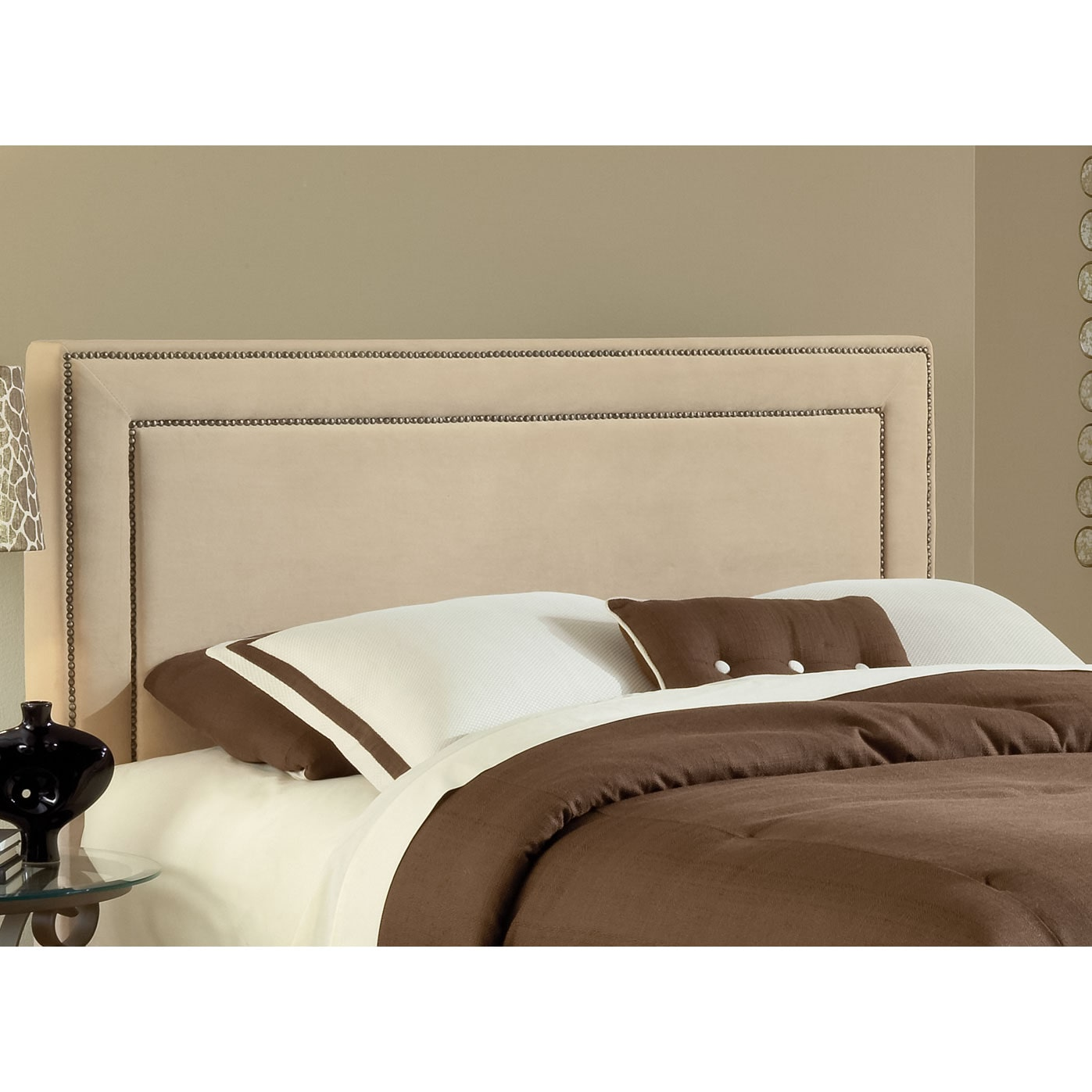 Amber Queen Upholstered Headboard - Beige