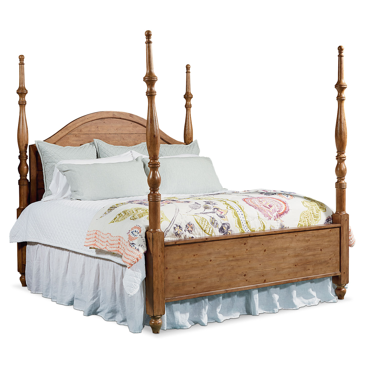 King Primitive Camelback Post Bed