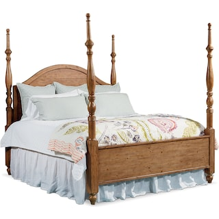 Queen Primitive Camelback Post Bed