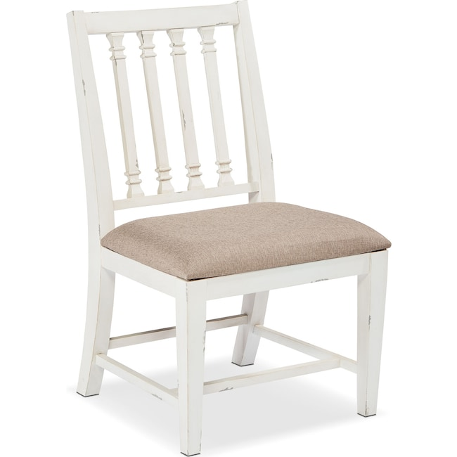 Dining Room Furniture - Traditional Revival Side Chair - White