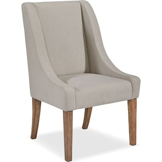 French Demi-Wing Upholstered Side Chair - Flannel Gray