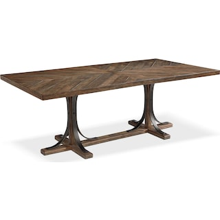 Traditional Iron Trestle Table