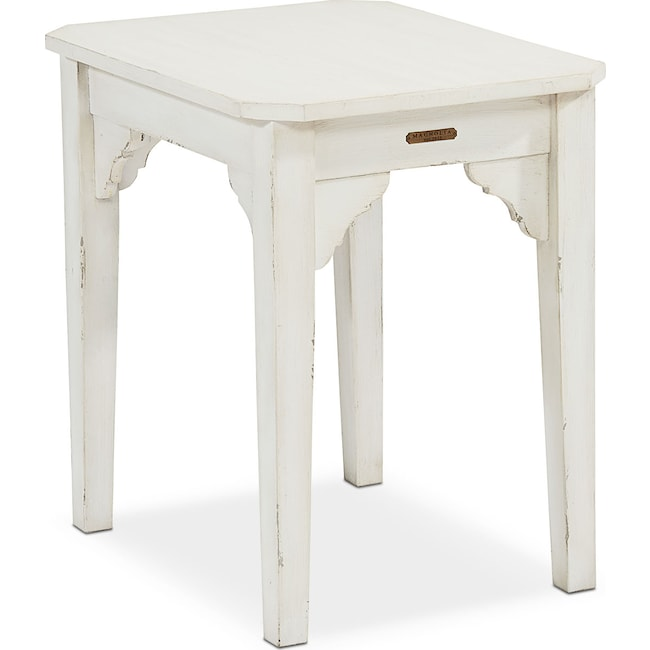 Accent and Occasional Furniture - Farmhouse Bracket End Table - White
