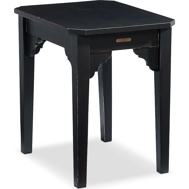 Accent and Occasional Furniture - Farmhouse Bracket End Table - Black