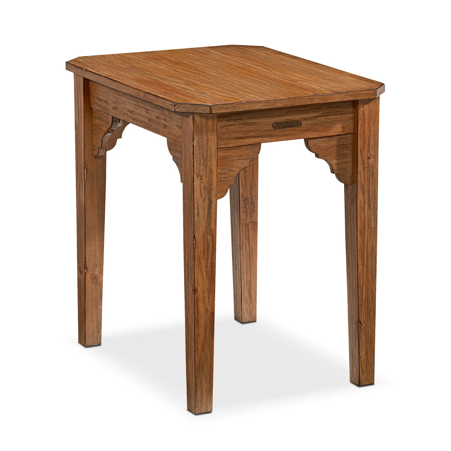 Farmhouse Bracket End Table - Bench