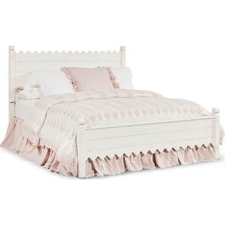 Queen Farmhouse Scallop Bed