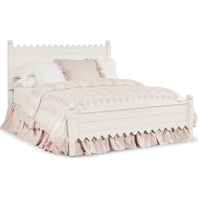 Bedroom Furniture - Queen Farmhouse Scallop Bed