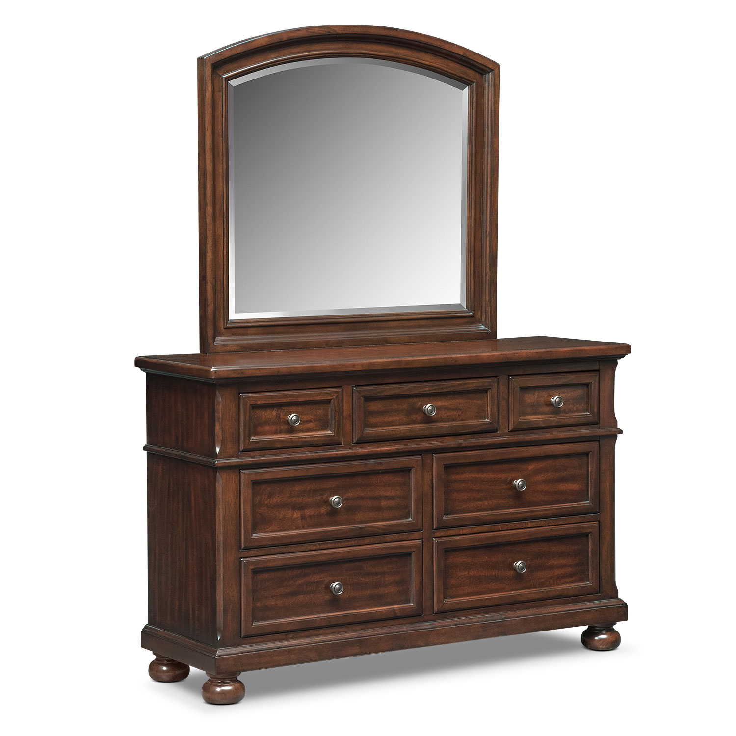 Bedroom Furniture - Hanover Youth Dresser and Mirror - Cherry