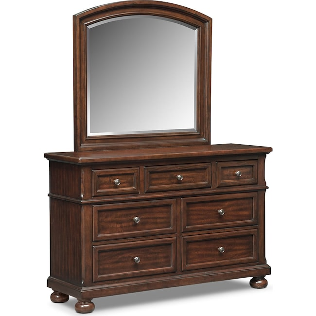 Kids Furniture - Hanover Youth Dresser and Mirror - Cherry