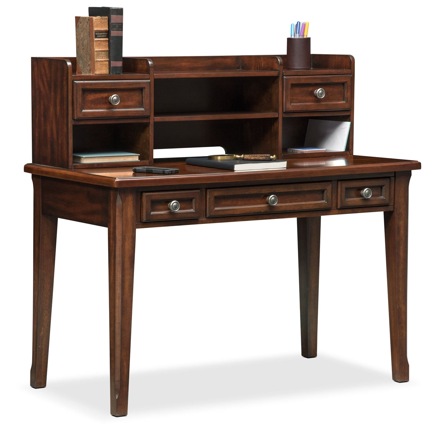 Hanover Youth Desk and Hutch - Cherry