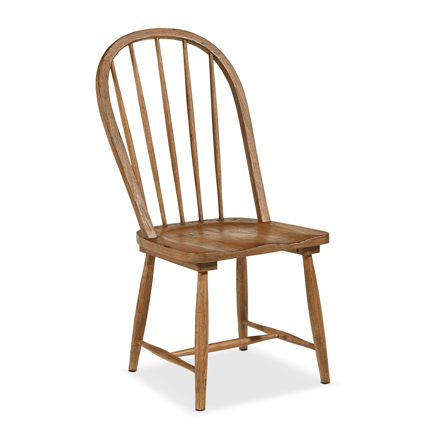 Dining Room Furniture - Primitive Windsor Hoop Side Chair - Bench