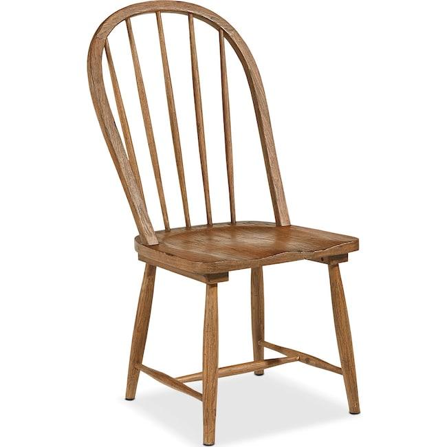 Dining Room Furniture - Primitive Windsor Hoop Side Chair - Bench