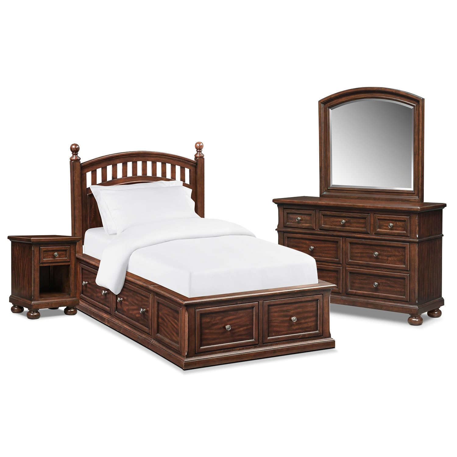 Shop 6 piece bedroom sets american signature furniture for Bedroom 6 piece set