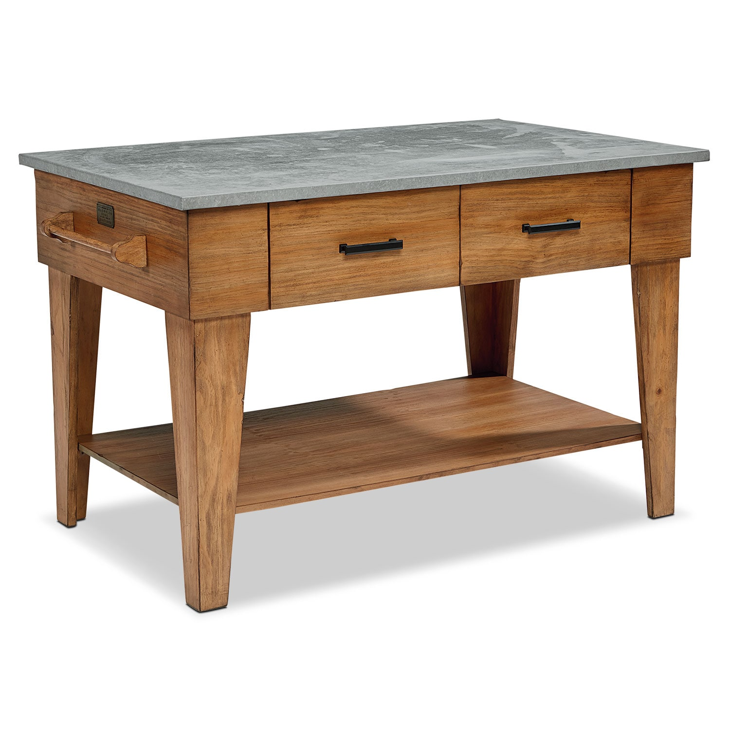 Accent and Occasional Furniture - Farmhouse Kitchen Island - Bench