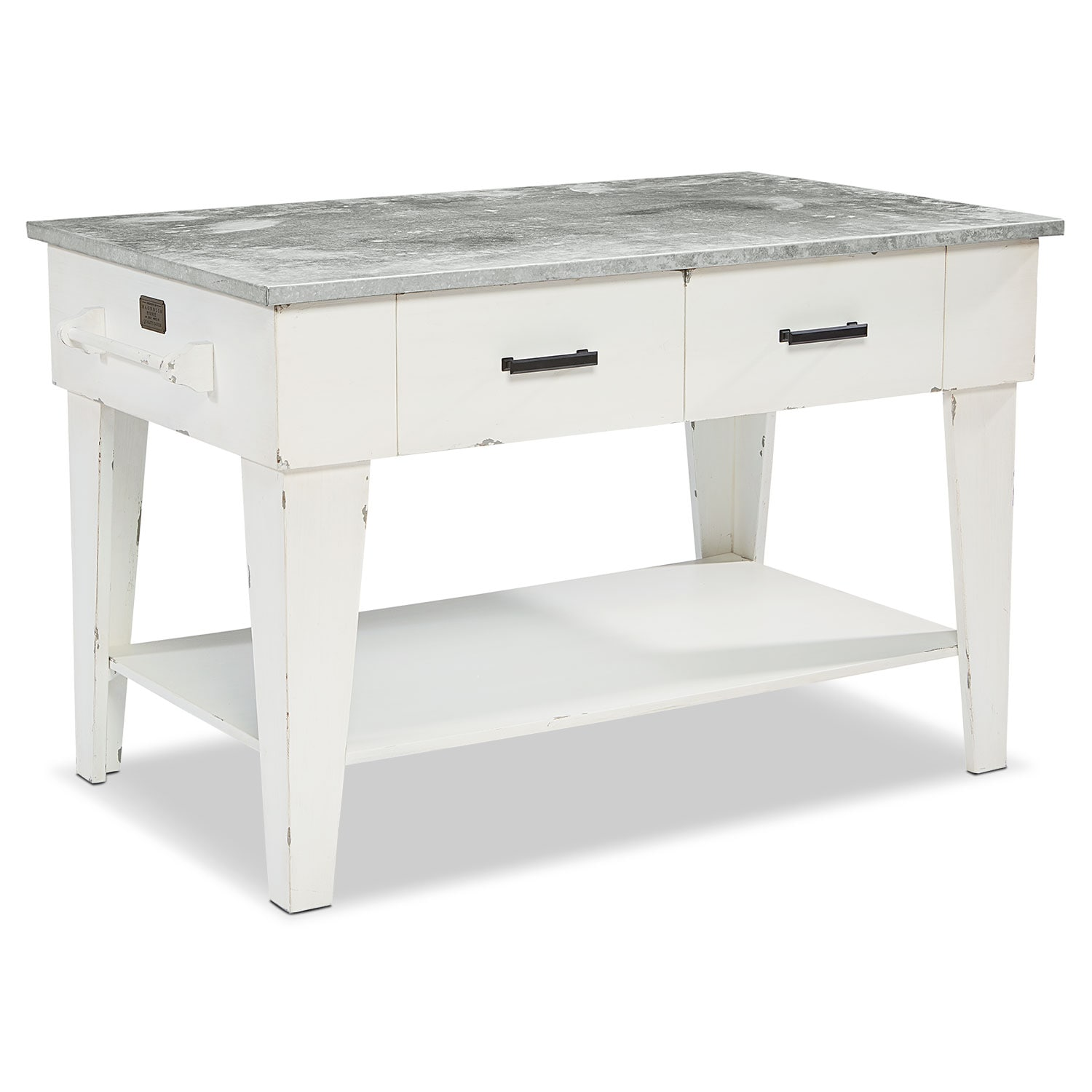 Farmhouse Kitchen Island - White