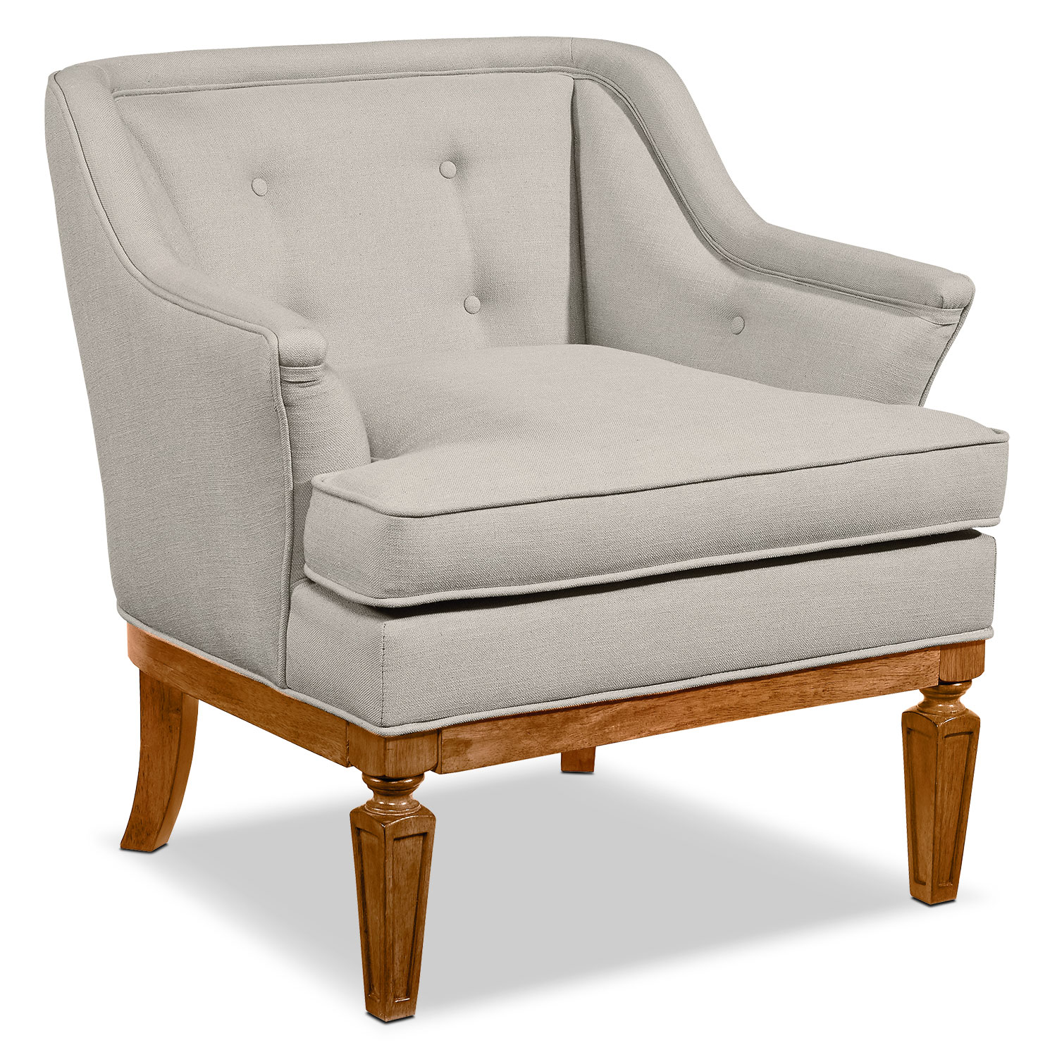 Living Room Furniture - Cotillion Accent Chair - Flannel Gray