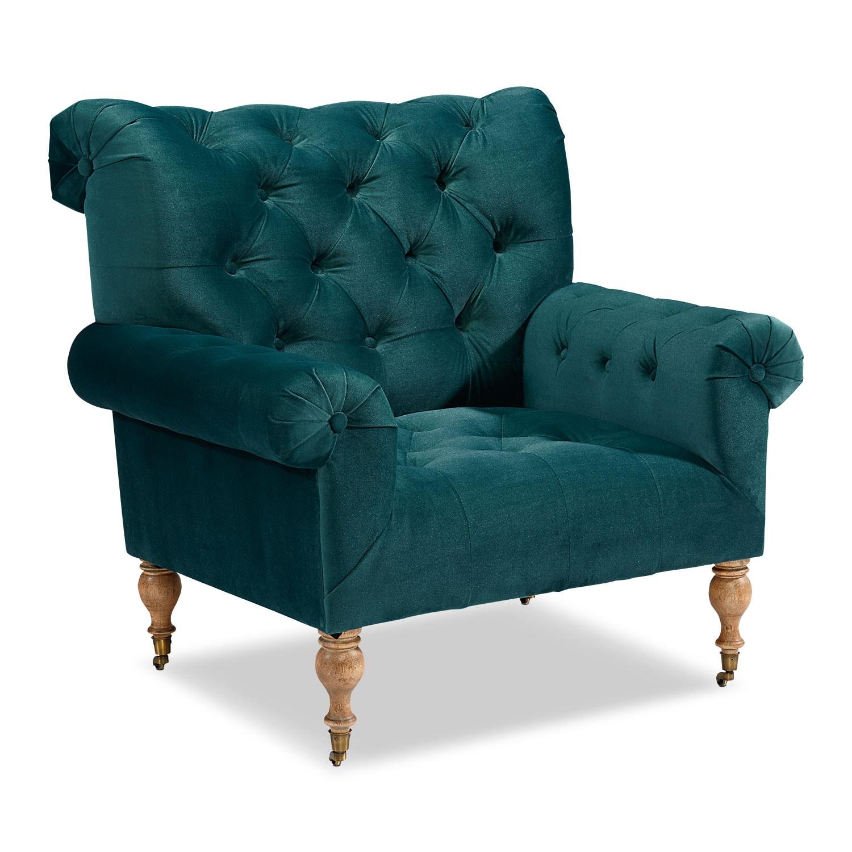 Living Room Furniture - Carpe Diem Accent Chair - Peacock