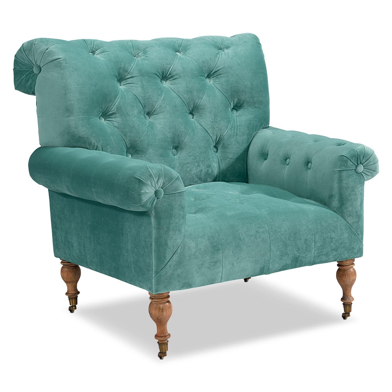 Living Room Furniture - Carpe Diem Accent Chair - Seaglass