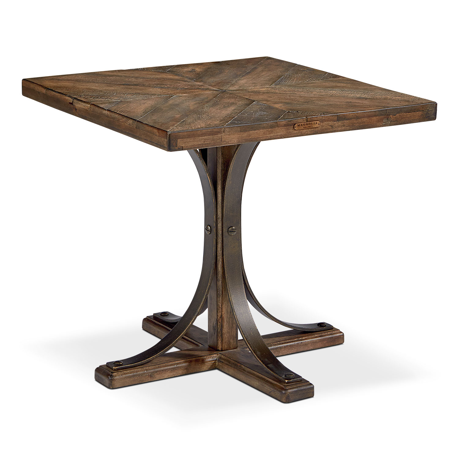Traditional Iron Trestle Hall Table