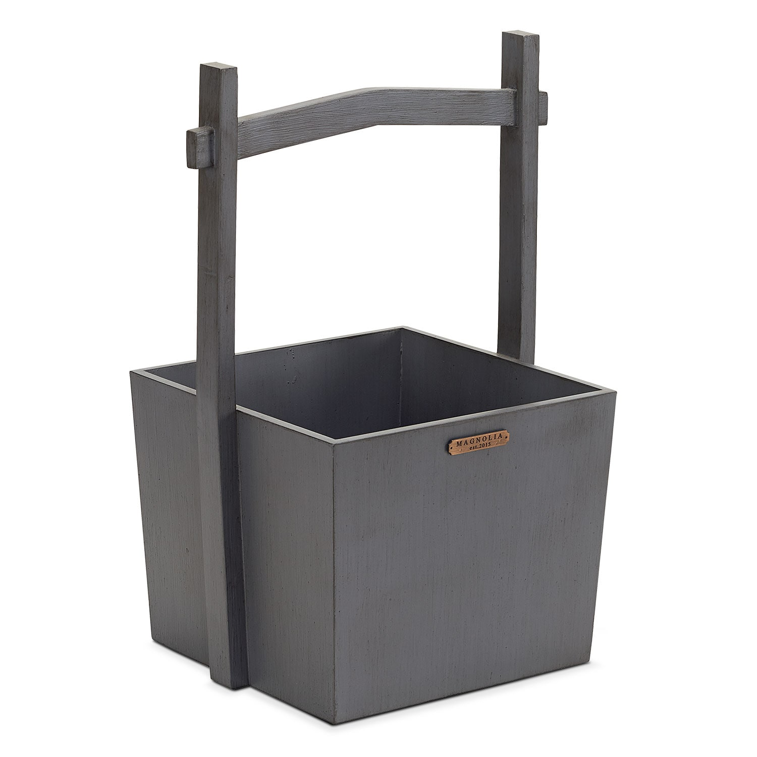 Wishing Well Wood Basket - Black