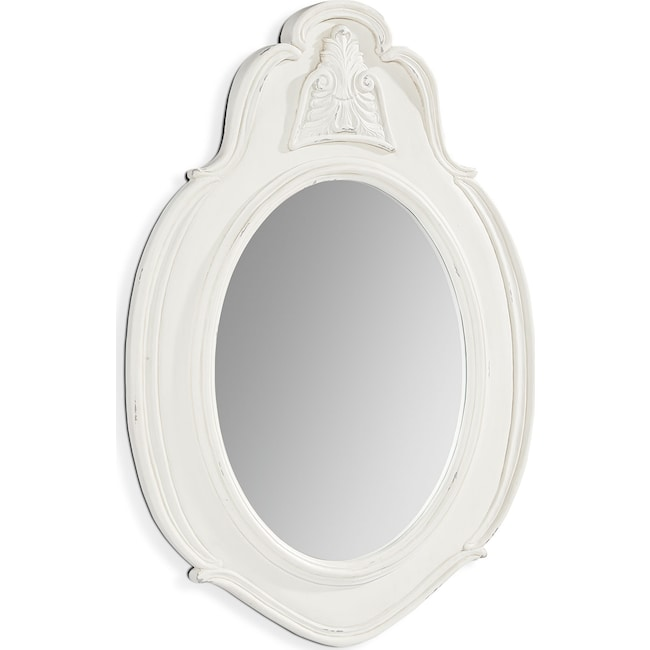 Accent and Occasional Furniture - French Inspired Small Cameo Mirror