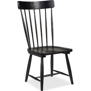 Farmhouse Spindle Back Side Chair - Black