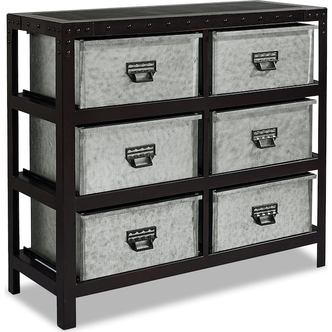 Accent and Occasional Furniture - Metal Storage Bin Chest
