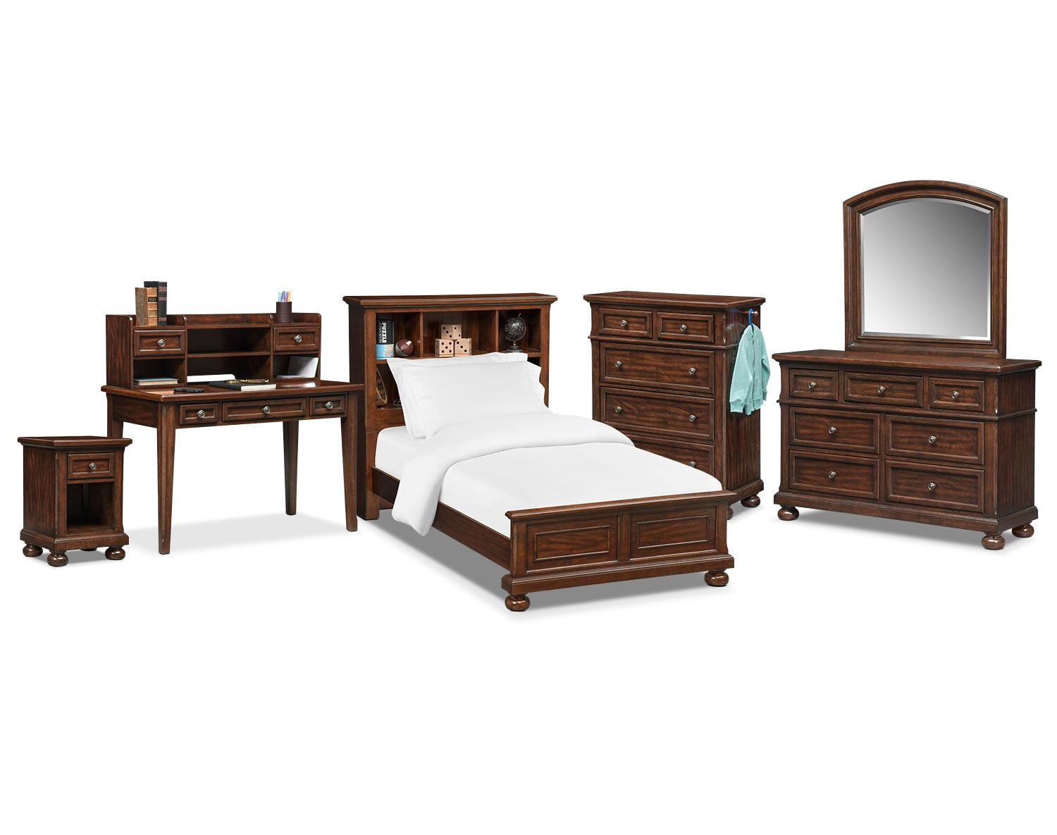 The Hanover Youth Bookcase Bedroom Collection   Cherry