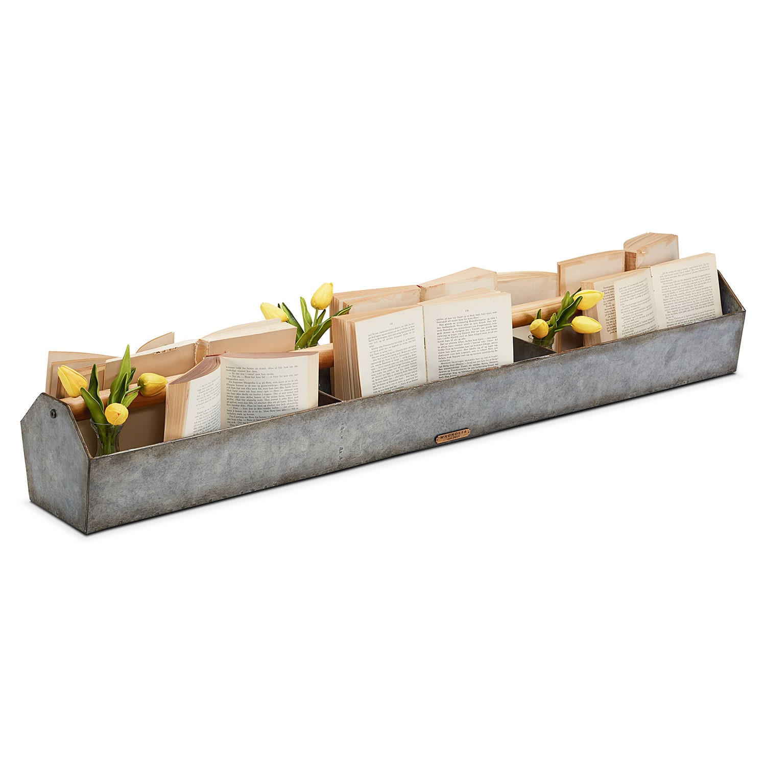 Home Accessories - Metal Trough with Wood Handle
