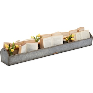 Metal Trough with Wood Handle