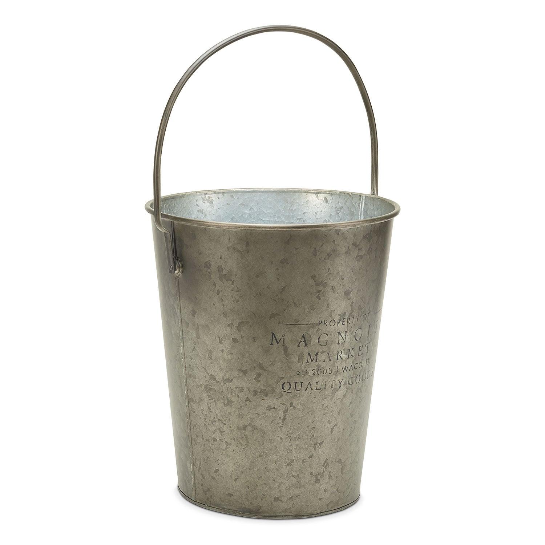 Metal Milk Bucket with Magnolia Logo