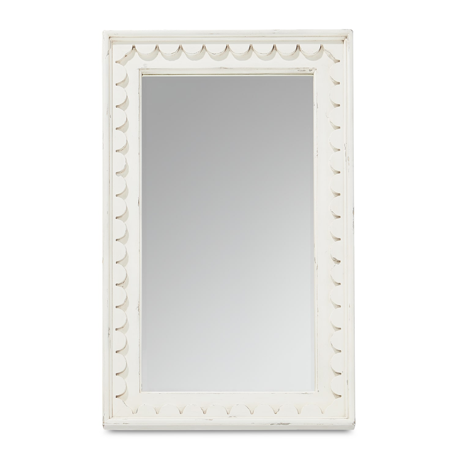 Farmhouse Scalloped Floor Mirror