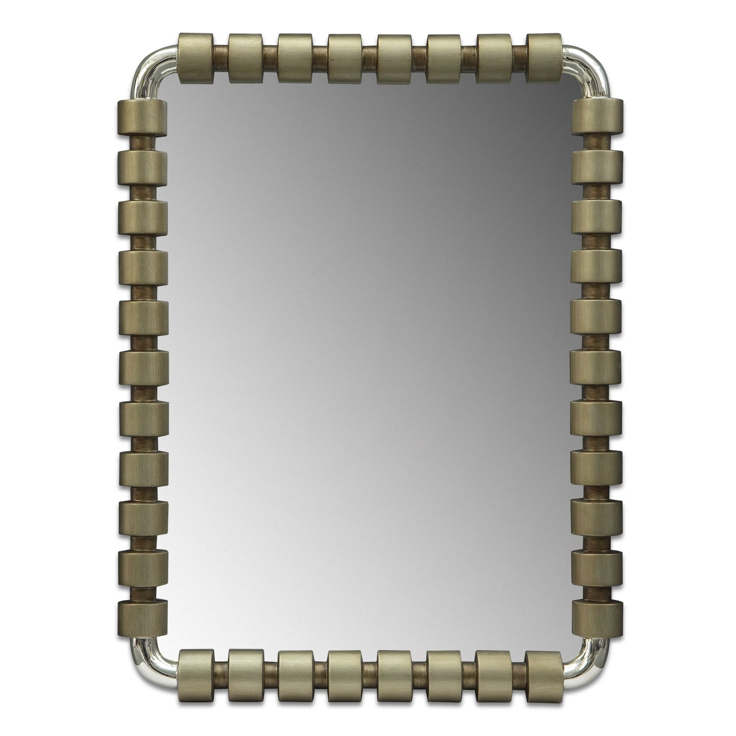 Home Accessories - Emory Mirror - Burnished Gold