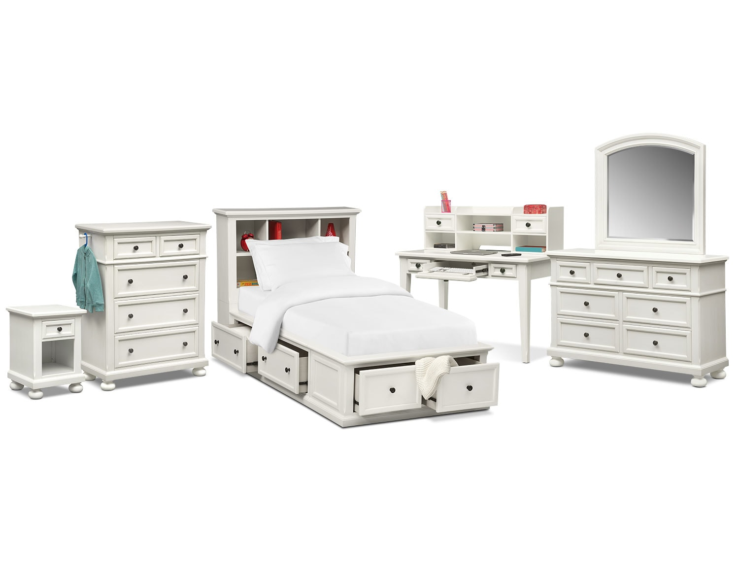 The Hanover Youth Bookcase Bedroom Collection - White