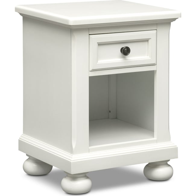 Bedroom Furniture - Hanover Youth Nightstand - White