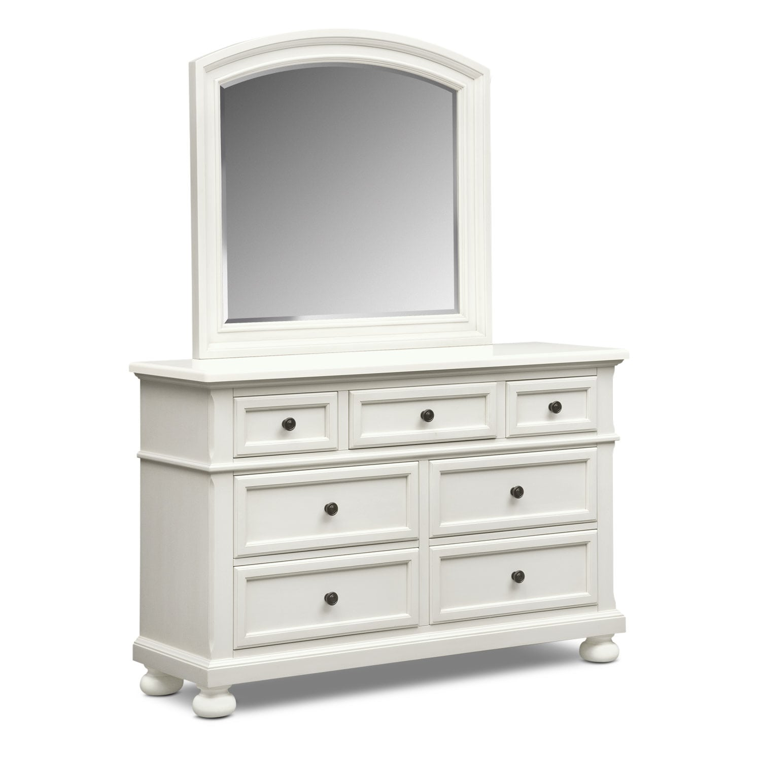 Hanover Youth Dresser and Mirror - White