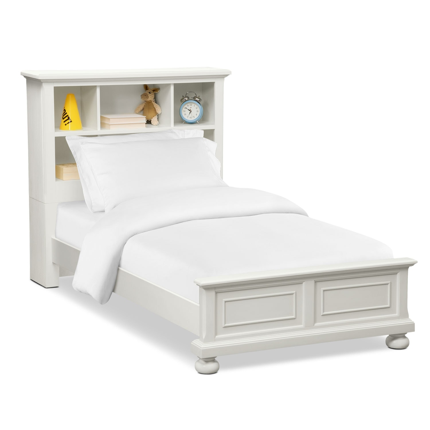 Hanover Youth Twin Bookcase Bed - White