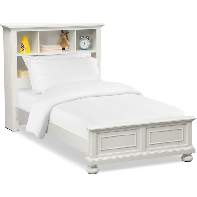 Bedroom Furniture - Hanover Youth Twin Bookcase Bed - White