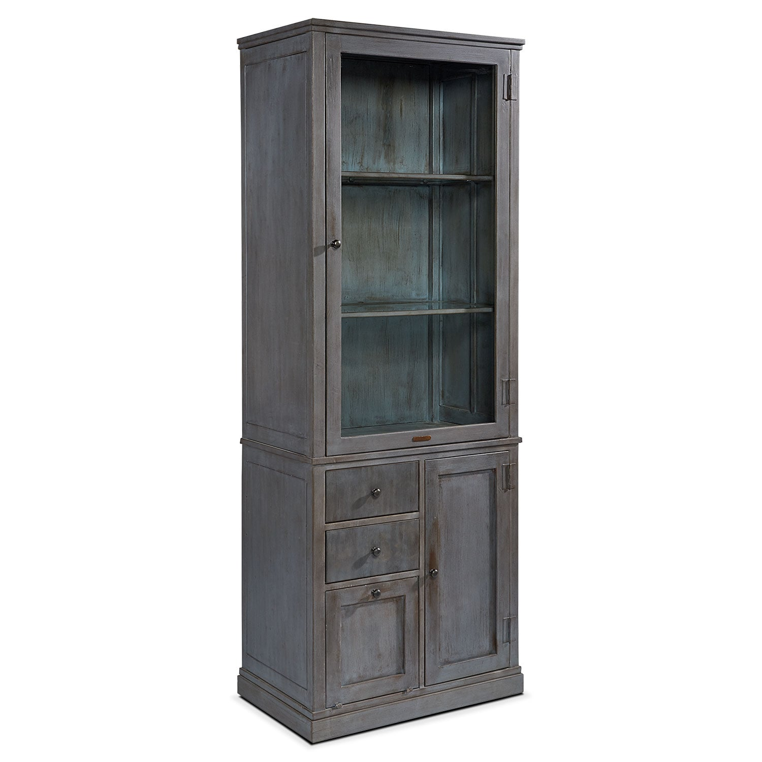 Accent and Occasional Furniture - Metal Apothecary Cabinet - French Grey