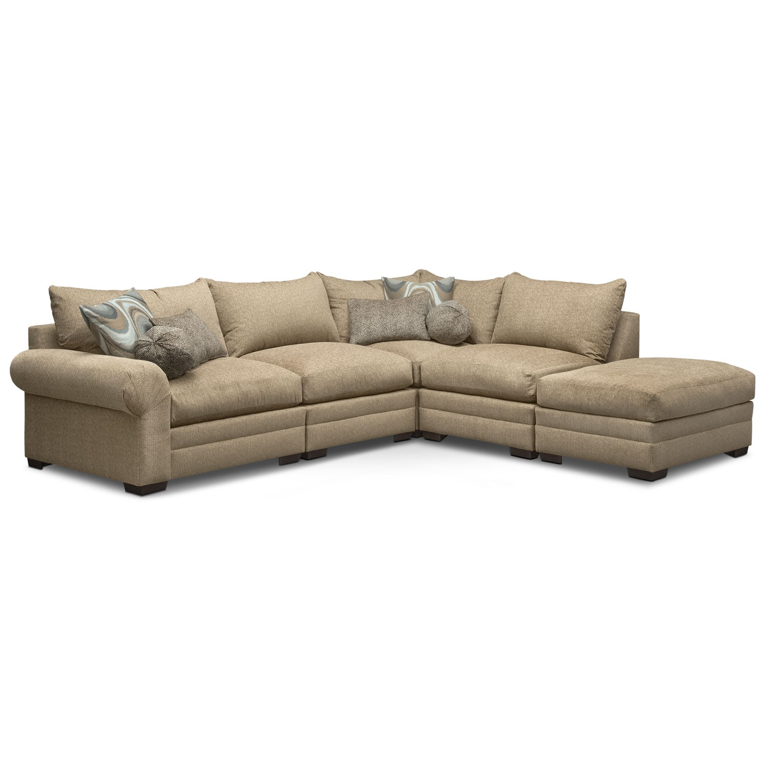 Wilshire 5-Piece Right-Facing Sectional - Taupe