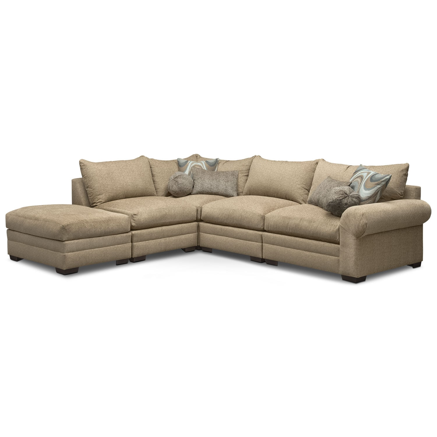 Wilshire 5-Piece Left-Facing Sectional - Taupe