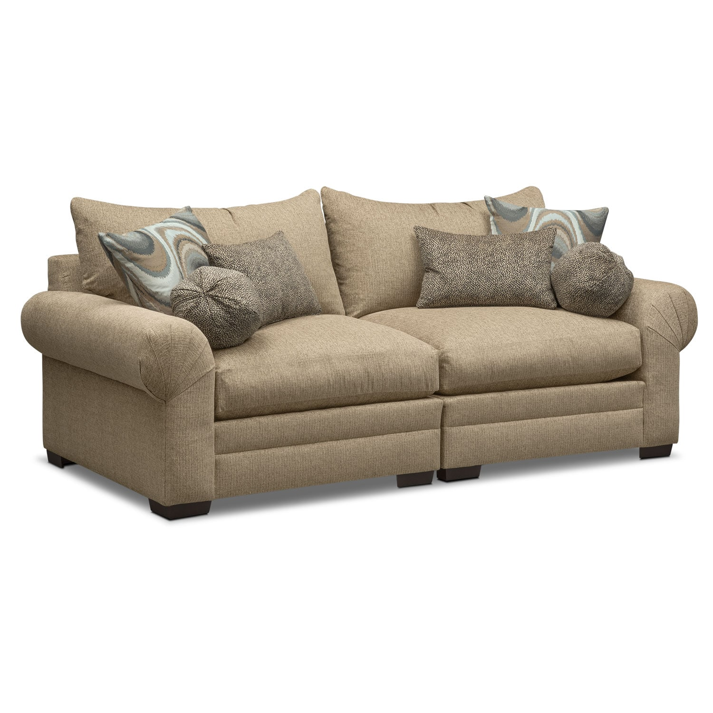 Living Room Furniture - Wilshire Sofa - Taupe