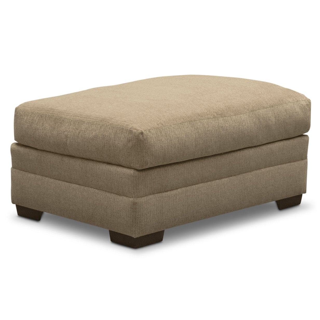Living Room Furniture - Wilshire Ottoman - Taupe