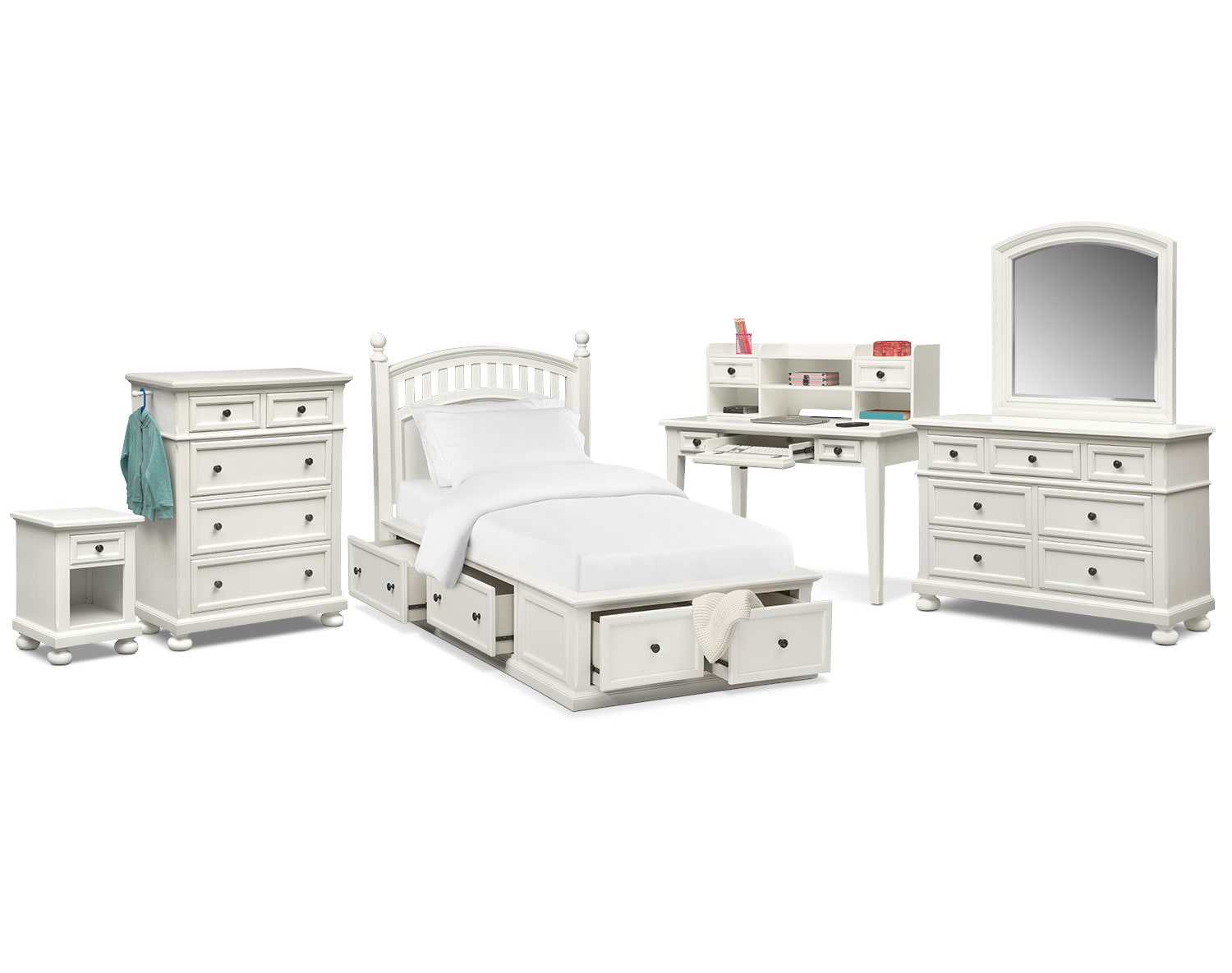 The Hanover Youth Bedroom Collection - White