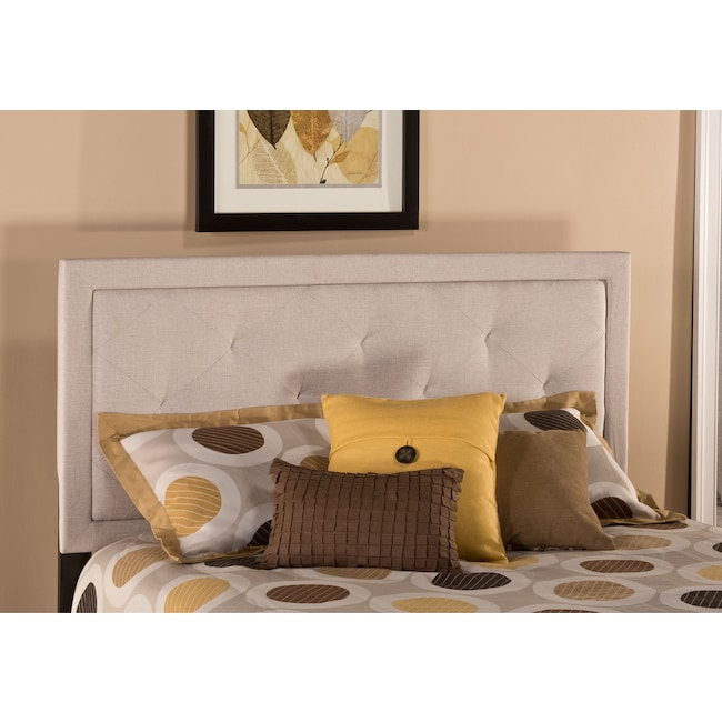 Bedroom Furniture - Becker Full Headboard - Cream
