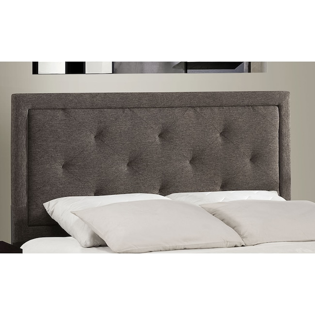 Bedroom Furniture - Becker Full Headboard - Charcoal
