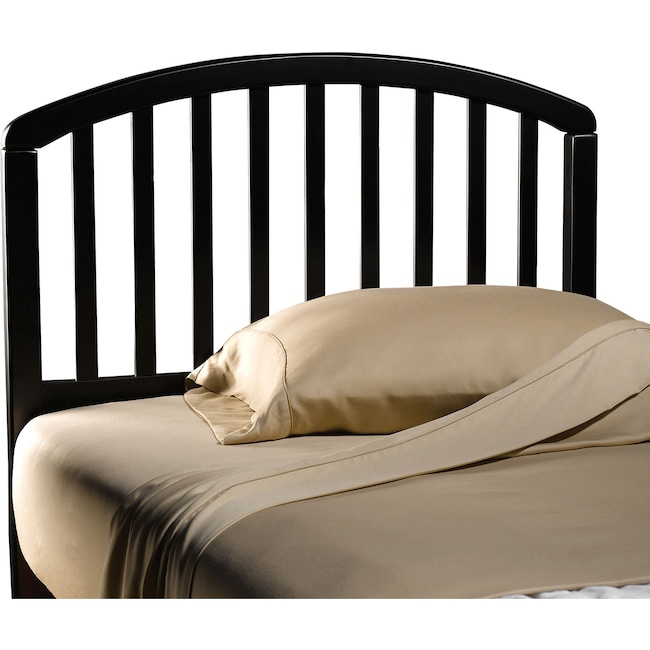Bedroom Furniture - Carolina Twin Headboard - Black